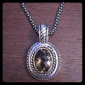 Jewelry - 14KT & Sterling Smokey Quartz Necklace